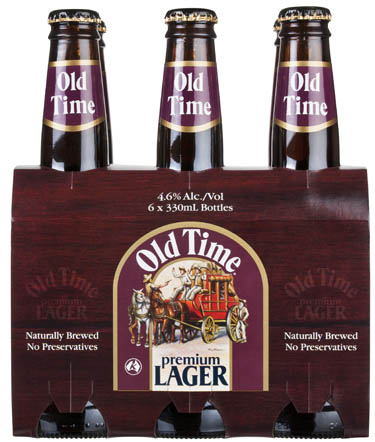 Old Time Premium Lager - a unique blend of malts that has a well balanced taste - the lager with distinct character.